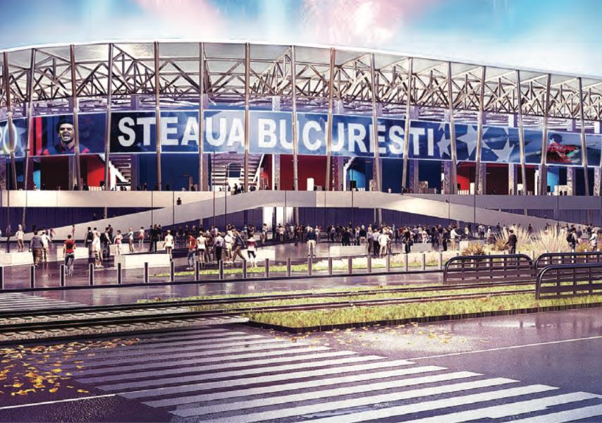 Stadion Steaua - Retea pe Fibra Optica Data-Voce, WiFi®, Broadcast