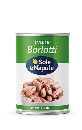 SOLE E NAPULE - Borlotti Beans - 400g tin