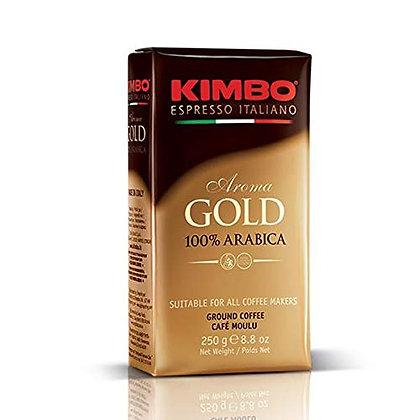 KIMBO - Aroma Gold 100% Arabica - Ground Coffee - 250g