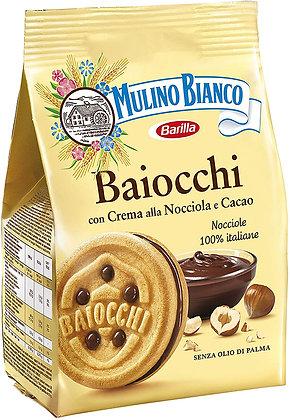 MULINO BIANCO - Baiocchi con Crema alla nocciola e Cacao - 260gr