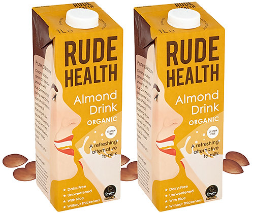 Rude Health 'Organic' Almond Drink - 2 x 1ltr