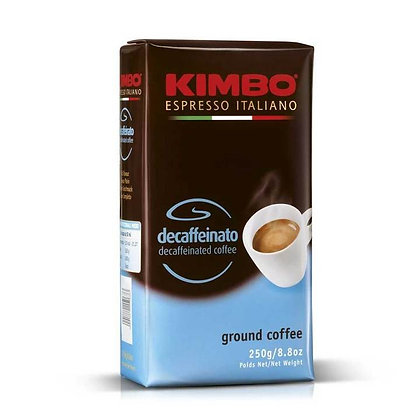KIMBO - Espresso Italiano DECAFFEINATO  - Ground Coffee - 250g