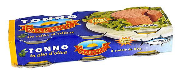 MARYSOL - Tuna in Olive Oil - 3x 80g tins