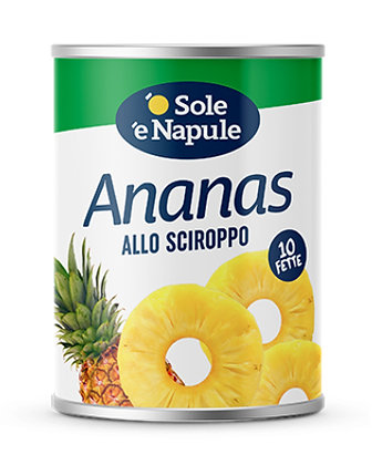 SOLE E NAPULE  - Sliced Pineapple in Light Syrup - 1 x 560g
