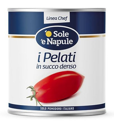 Large tin - Peeled Plum Tomatoes in thick sauce - 1 x 2.5kg