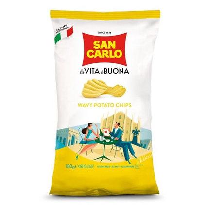 SAN CARLO - Crisps Rustica Wavy - 180gr