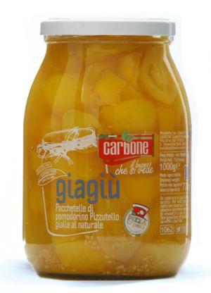 CARBONE - Yellow Tomato Giagiu *Pizzutello a Pacchetelle* Halves in Water - 1062
