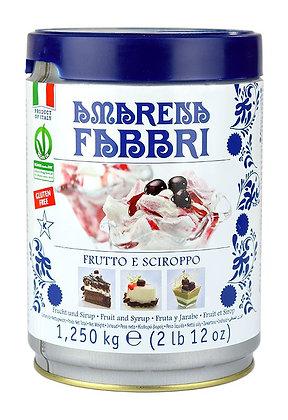FABBRI - Amarena Black Cherries in Syrup - 1,250Kg Tin