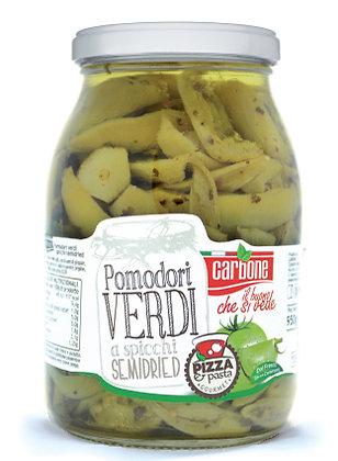 CARBONE - Green Tomato Quarters Semi Dry in Sunflower Oil - 1062ml