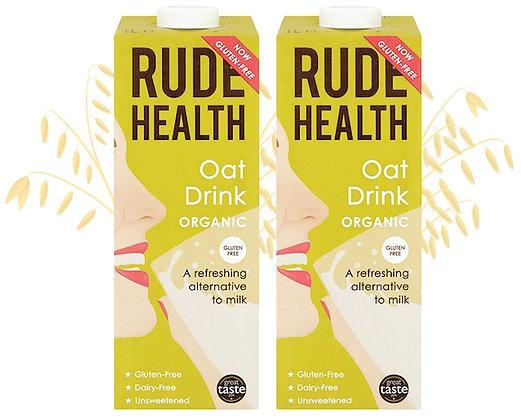 Rude Health 'Organic' Oat Drink - 2 x 1ltr