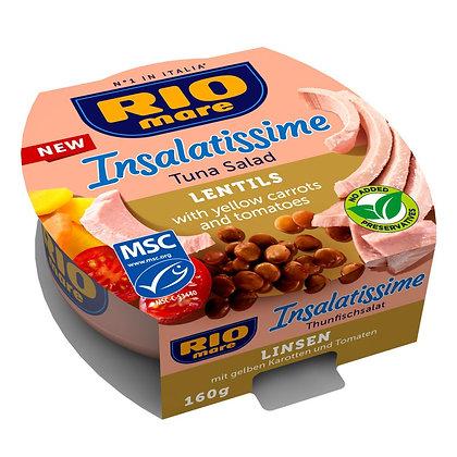 RIO MARE INSALATISSIME - Tuna & Lentils - 160gr