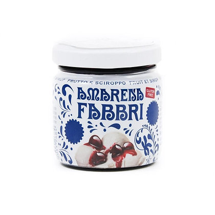 FABBRI - Amarena Black Cherries in Syrup  - 120gr jar