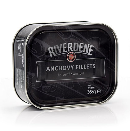 RIVERDENE - Anchovy Fillets in Sunflower Oil - 368gr