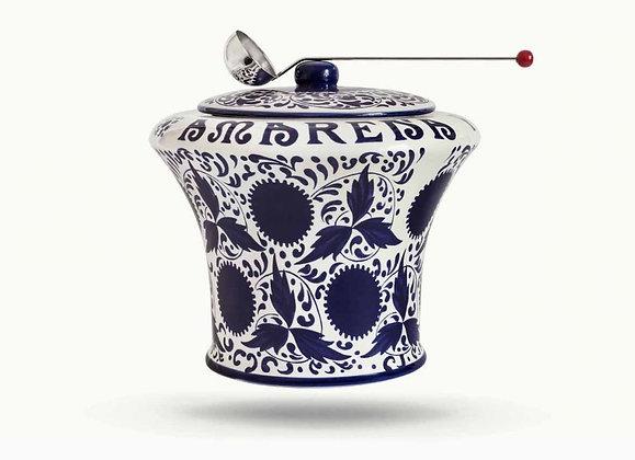 FABBRI - Amarena  Empty Ceramic Jar with Spoon - 1.2kg