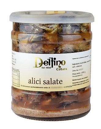 DELFINO - Alici Salate Cetara - SALTED ANCHOVIES - 1kg
