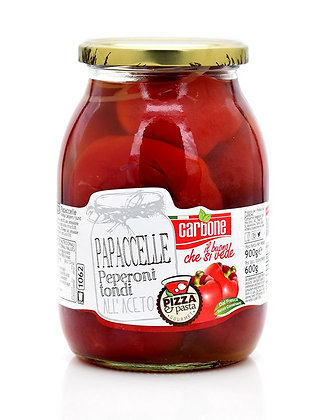 CARBONE - Papacelle Round Peppers in Vinegar - 1062ml