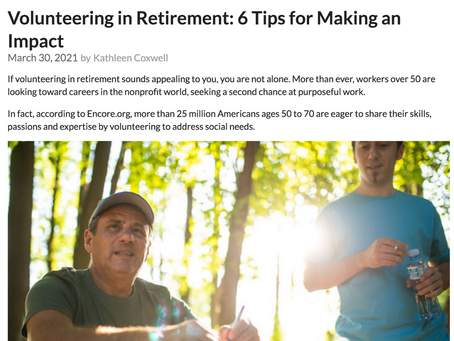 Volunteering in Retirement: 6 Tips for Making an Impact