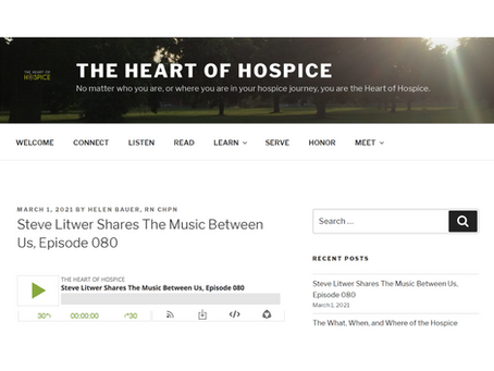 Interview on The Heart of Hospice Podcast