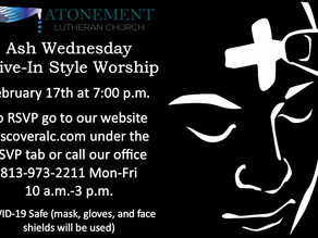 Don't forget tonight @ 7pm! Ash Wednesday Service
