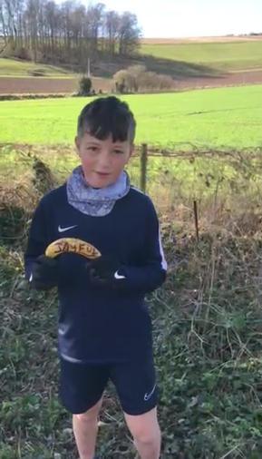 Online runner 'rider' Issac, age 11