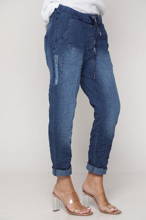 11202 ♥  מכנס ג'ינס רוכסנים ושרוך שיקי בטירוף♥