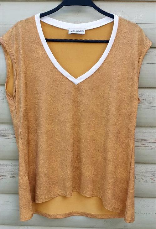חולצה מדהימה של לימור גבריאלי דגם 8073 חרדל