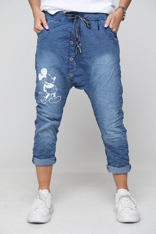 GL1מכנסי ג'ינס חיתול הדפס מיקי 0842