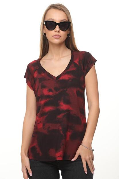 חולצה טובה טאי  דאי אדום שחור 149 SML.jp