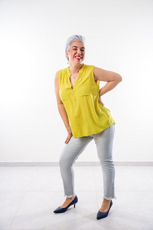מבצע חיסול מטורף!!! ג'ינס אפור גאטו דגם 4 כפתורים 02895♥