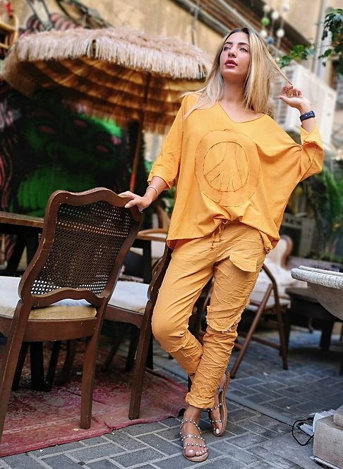 ♥ חולצת קז'ואל פאצ' פיס ♥ MR - 21069
