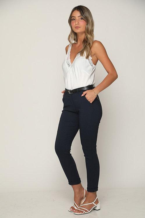 🧨  מכנסים מחויטים עם חגורה ללוק לבוש מעלף 🧨GL-11166