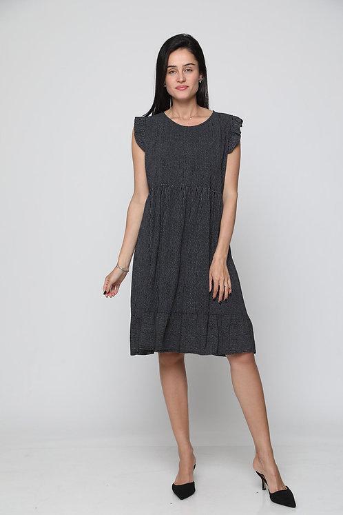 שמלת ויסקוזה פסים רכה ונעימה GL10846