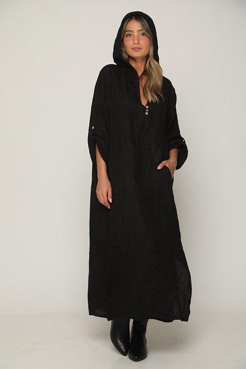 ♥ שמלת פישתן קפוצ'ון סטייל חדש ומדליק ♥ GL - 11122