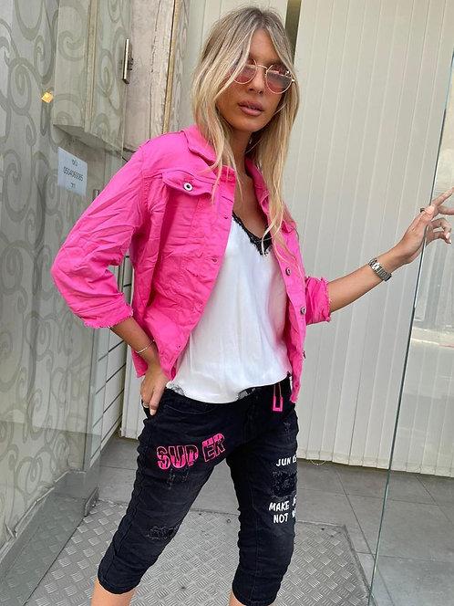 ♥ ג'קט ג'ינס עם לייקרה בצבעים מושלמים ♥ ML - 721 / 722