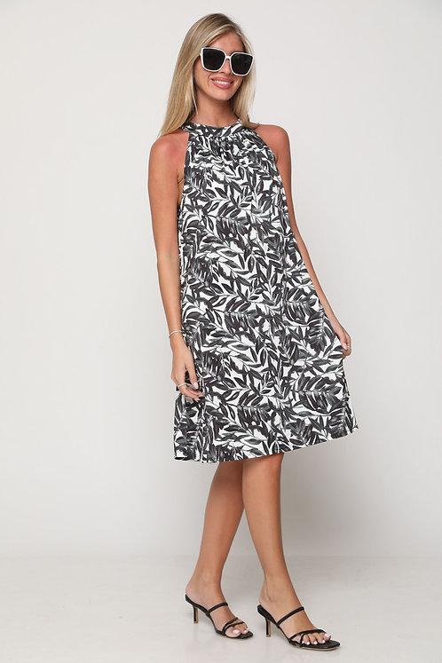 ♥ שמלת קולר בהדפס עלי שלכת ♥ GL - 11104