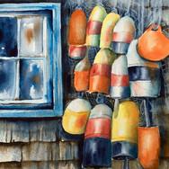 Buoys and Blue Window