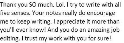 client review of book edit