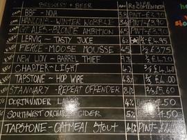 Beer cellar chalkboard