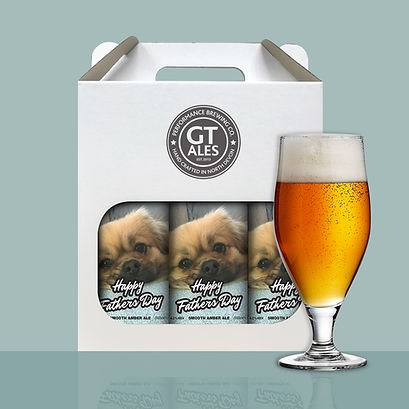 Birthday can gift pack & glass - Doggy.j