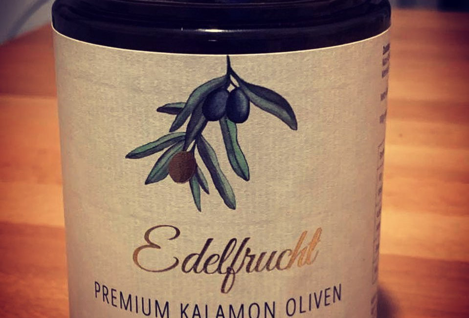 "360 gr. Premium Kalamata-Oliven ""naturbelassen"""
