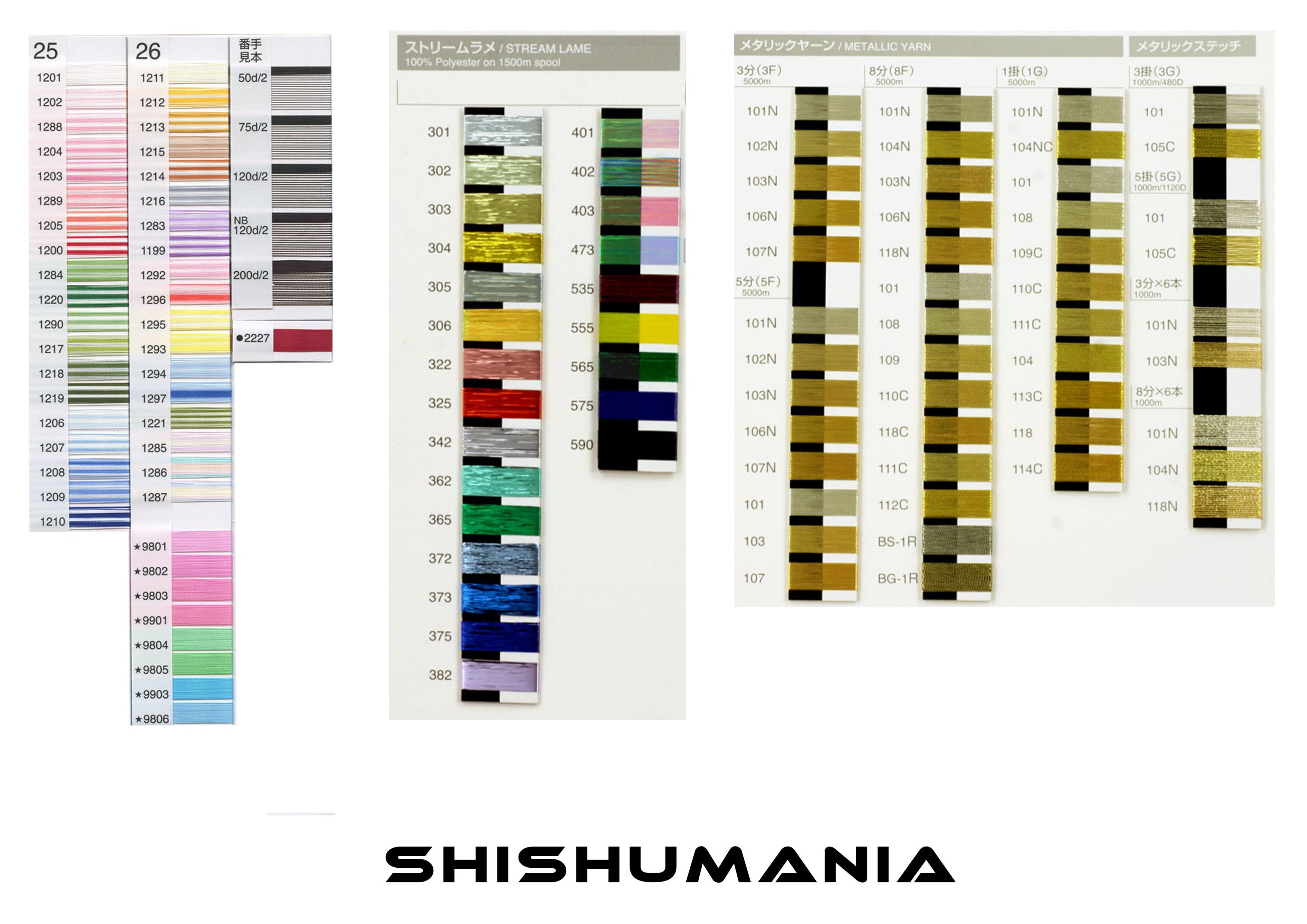 SHISHUMANIA 金糸・銀糸・ラメ糸