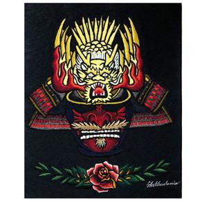 甲冑鎧兜刺繍パネル製作