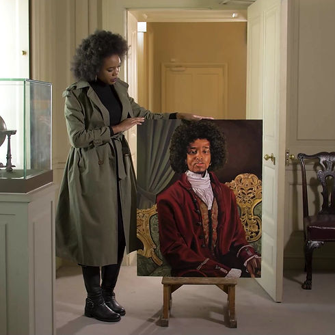James Chappell at Kirby Hall, Glory Samjolly: Painting Our Past, English Heritage