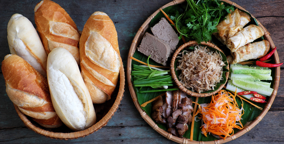Famous Vietnamese food is banh mi thit,