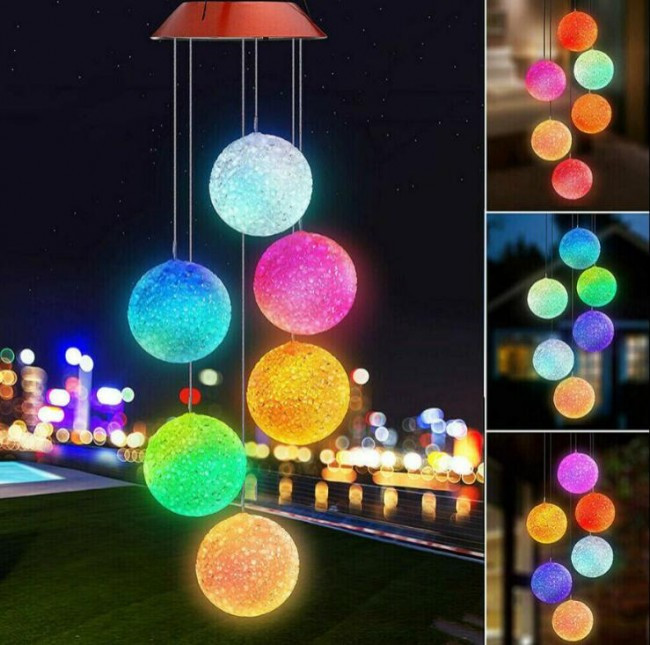 Led multi coloured ball lights
