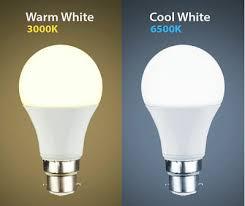 Led warm and cool white bulbs
