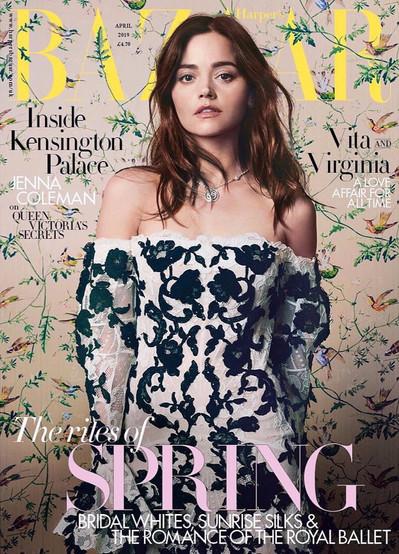 Jenna Coleman, Harpers Bazaar UK March 2019