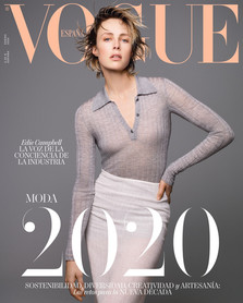 Edie Campbell for Vogue Spain, Jan 2020