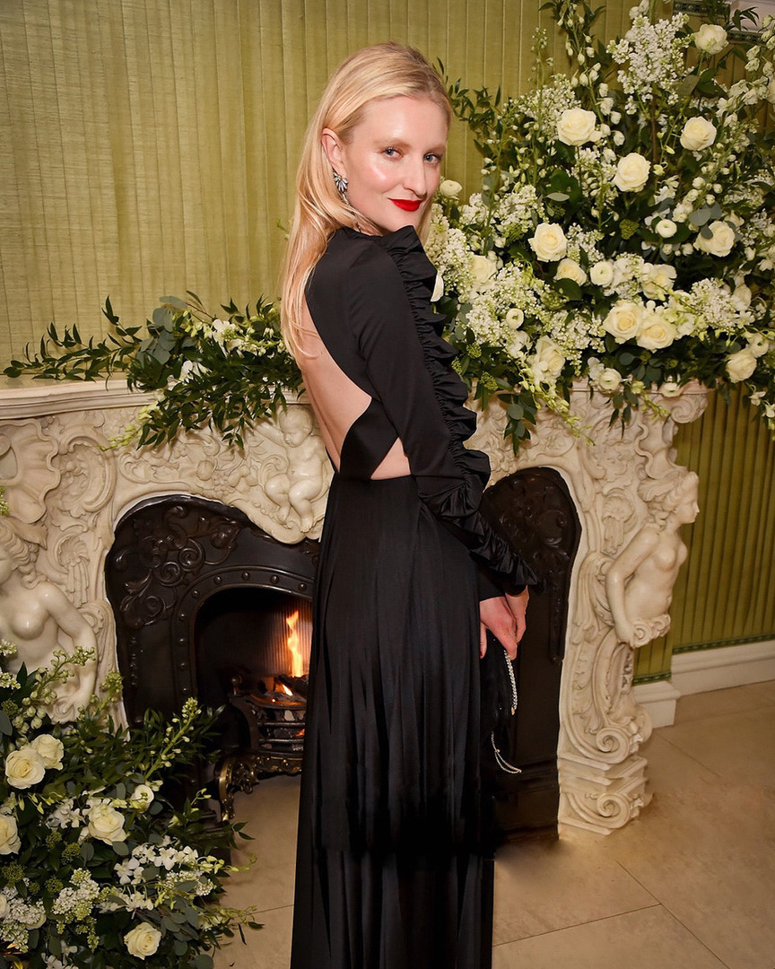 Candice Lake at Vogue BAFTA party