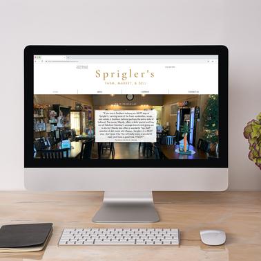 Sprigler's Farm Market and Deli Website